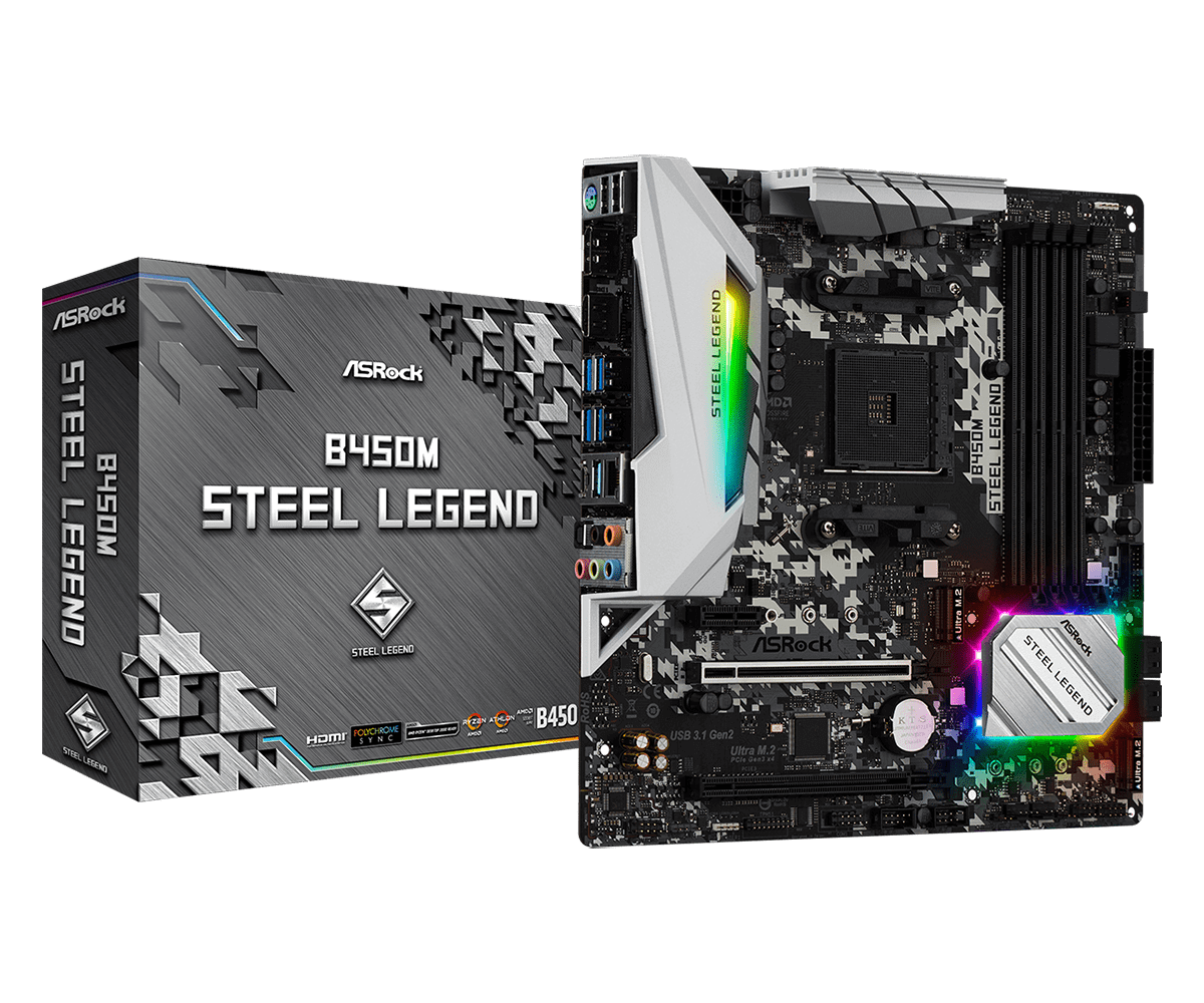 Mainboard ASRock B450M Steel Legend