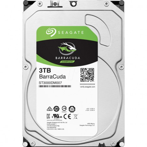HDD 3TB Seagate BarraCuda ST3000DM007