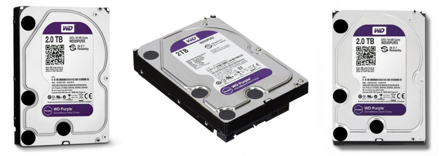 HDD Camera WD Purple 2TB Sata3 5400rpm (WD20PURZ)