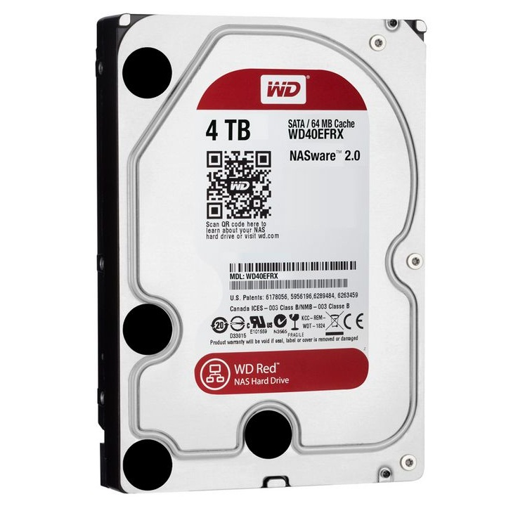 HDD NAS WD Red 4TB Sata3 5400rpm (WD40EFRX)
