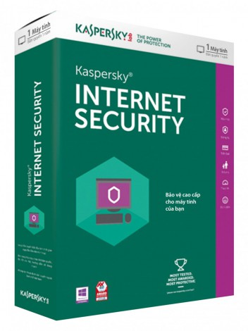 Phần mềm diệt Virus Kaspersky Internet Security 1 User