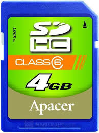 Card SDHC 4GB Apacer/Class 4
