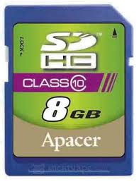 Card SDHC 8GB Apacer/Class 4