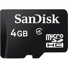 Card Micro SDHC 4GB Sandisk