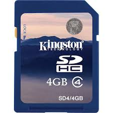Card SDHC 4GB Kingston (Class 4)