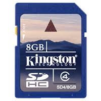 Card SDHC 8GB Kingston