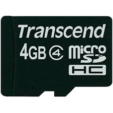 Card Micro SDHC 4GB Transcend