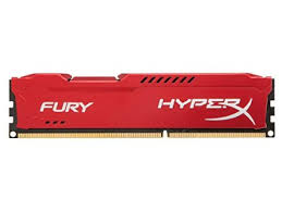 Ram Kingston 4G 1600MHZ DDR3 CL10 Dimm HyperX Fury Red