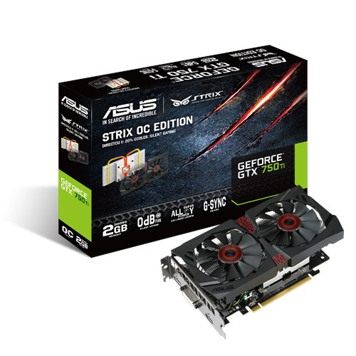 VGA ASUS 2GB STRIX GTX750Ti OC- 2GD5