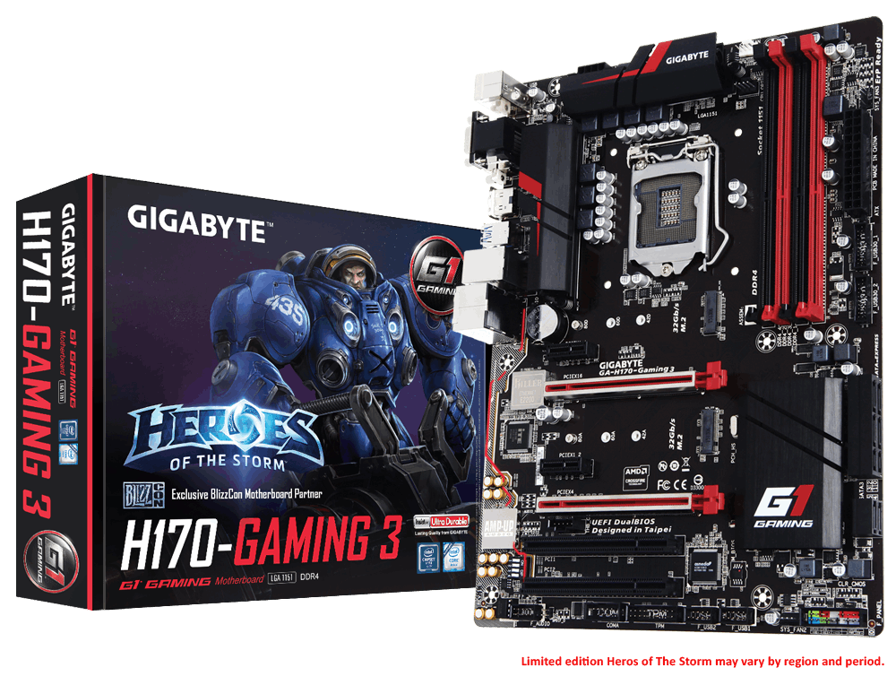 MAINBOARD GIGABYTE H170 GAMING3 DDR4